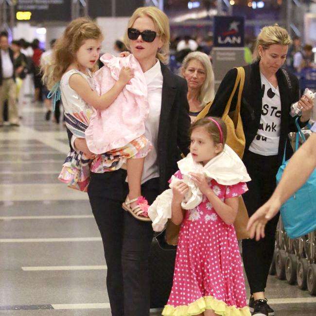 Nicole Kidman and her daughters