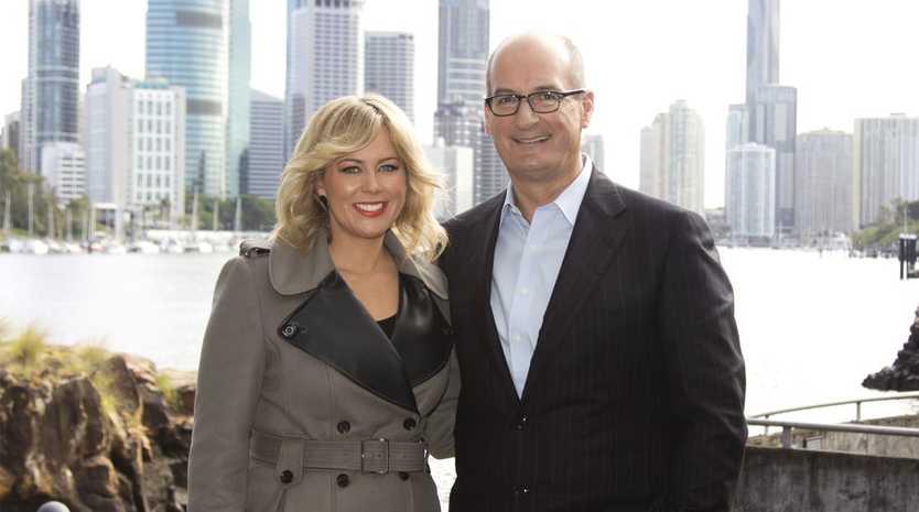 Sunrise presenters Samantha Armytage and David Koch pictured in Brisbane.