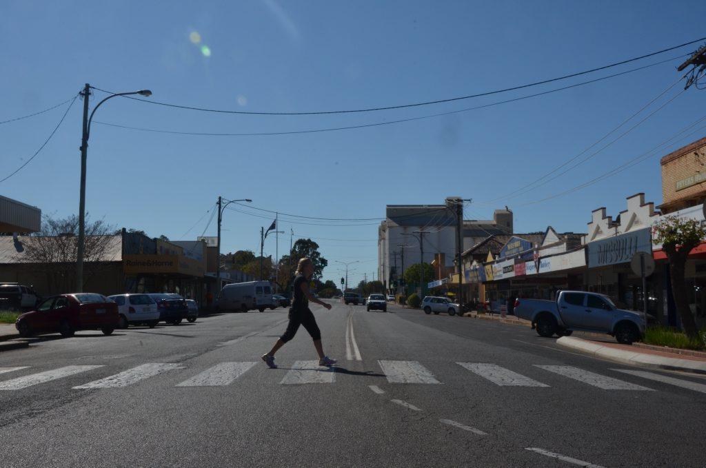 CROSSING DANGER: Kingaroy woman Taleah Gould believes the Haly St zebra crossing is unsafe.Photo Rhiannon Tuffield / South Burnett Times