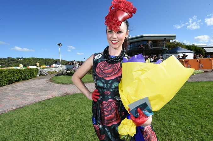 Kacey Lloyd, of Cabarita, was the winner of the Fashions on the Field at the Lismore Cup.
