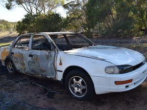 Burnt Toyota Camry