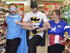 Superheroes at Coles
