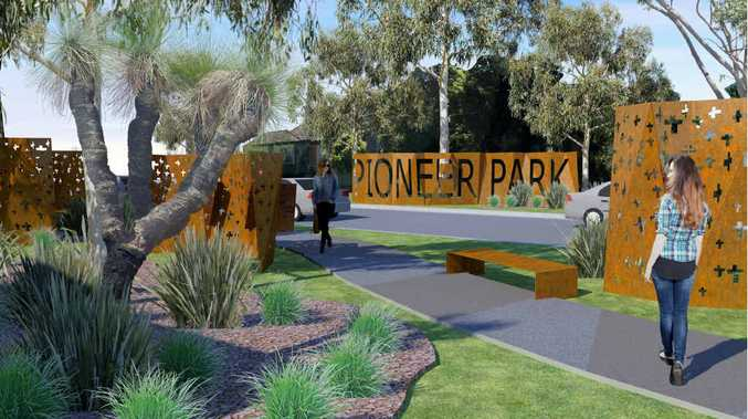 HOW IT WILL LOOK: An artist's impression of the proposed road through Pioneer Park.