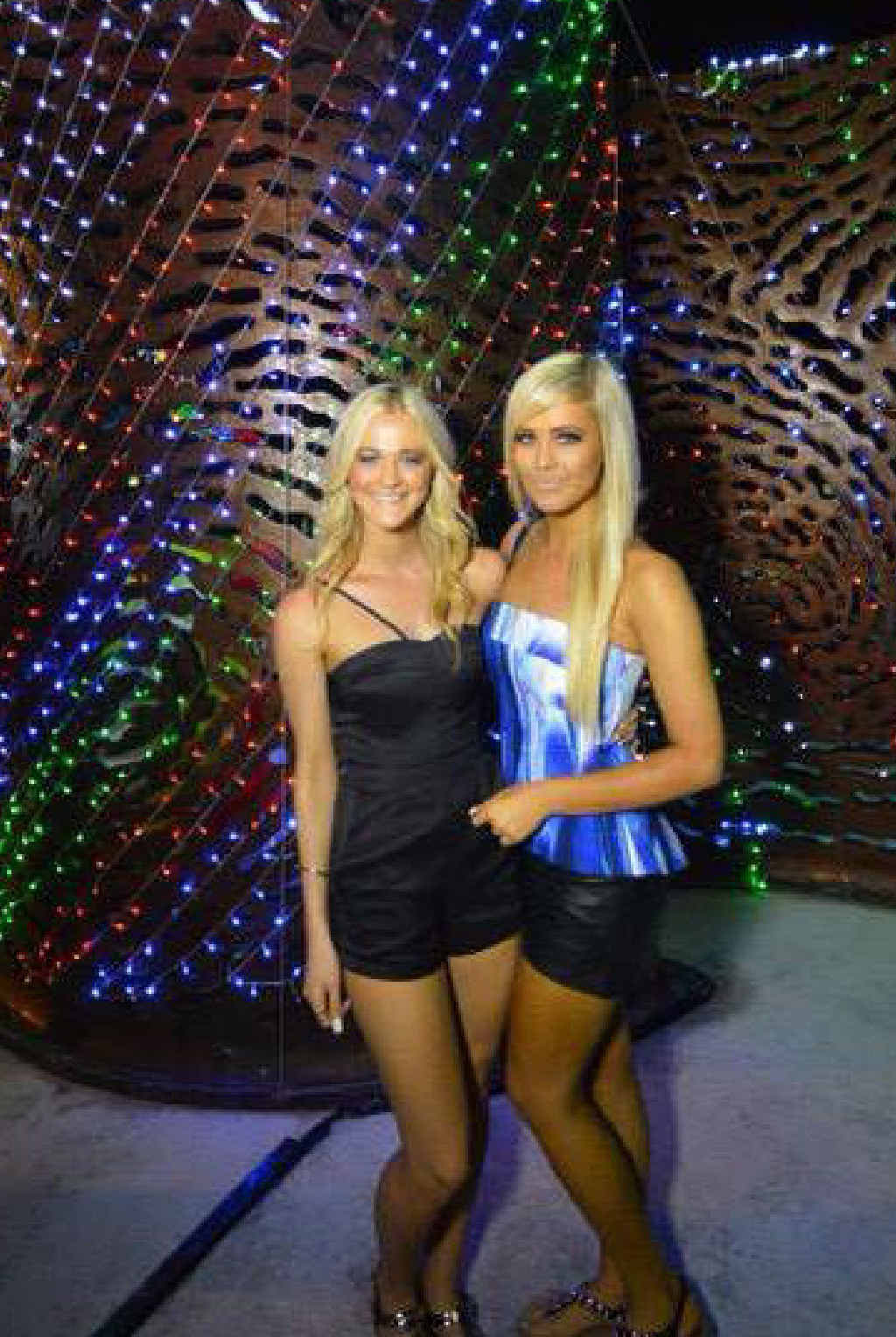 THAILAND TIMES: Savannah and Michaela Callow in Phuket.