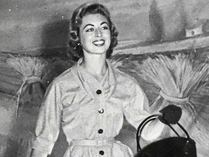 June Hordern (nee Campbell) modelling in 1960.