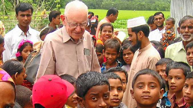 HELPING HANDS: Fred Hyde spends most of his year in Bangladesh building schools for children.