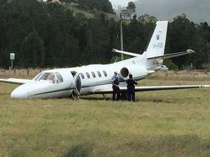 Plane overshoots runway at Lismore