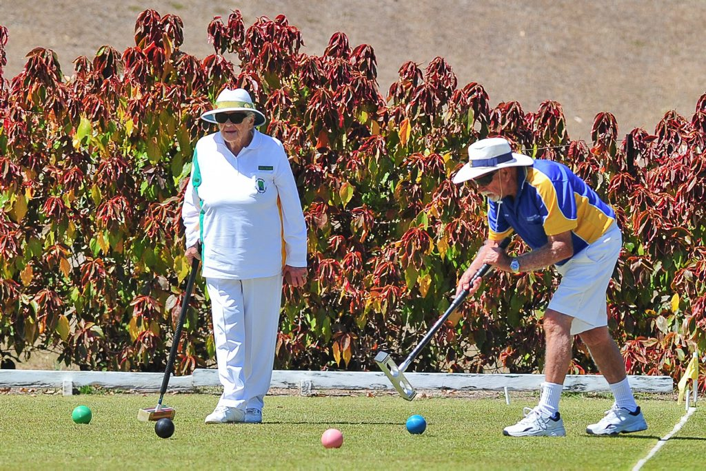 Don Brown at the Gladstone Croquet Club. Photo Mike Richards / The Observer