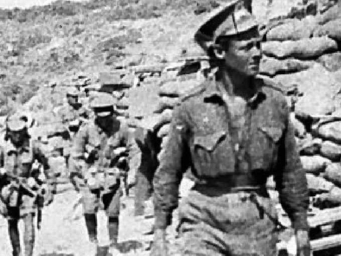 Ottoman Empire: Turkey, Dardanelles, Gallipoli, Anzac Area (Gallipoli), Lone Pine Area, Brown's Dip. Photo: Australian War Memorial.