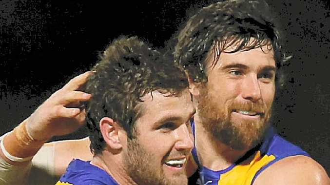 TALL EAGLES: Jack Darling (left) and Josh Kennedy will be vital to West Coast tonight.