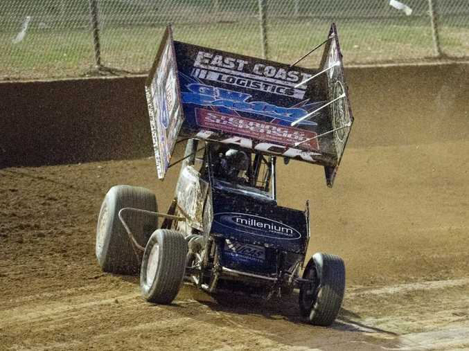 Withcott sprintcar driver Peter Lack claimed his third-straight podium finish on Saturday night.