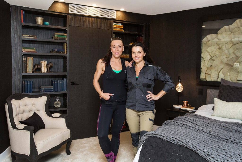 The Block's Vonni and Suzi pictured in their winning master bedroom.