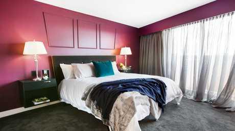 Luke and Ebony's master bedroom in a scene from The Block.