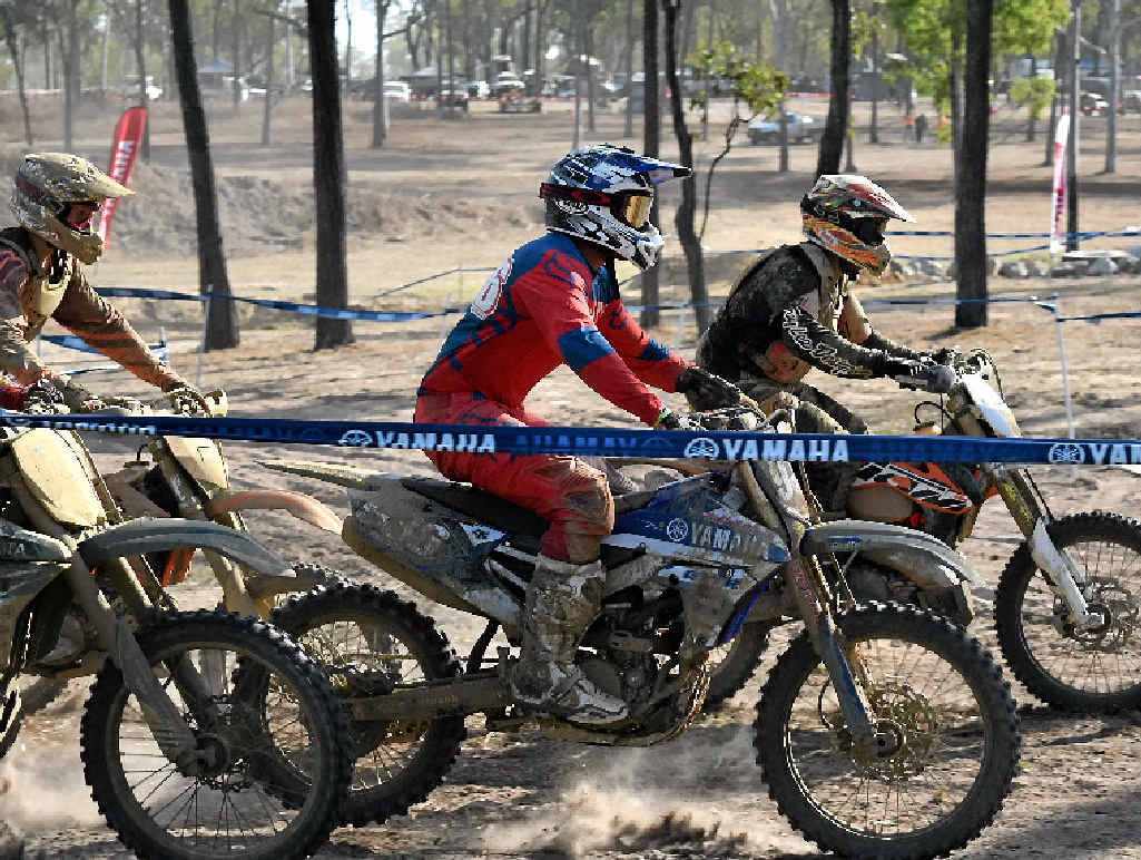 Racers said the enduro-cross track was technically challenging.