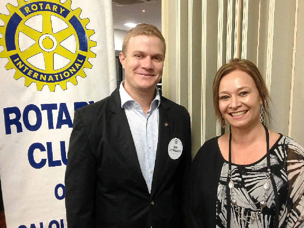 GREAT CAUSE: Caloundra Pacific Rotary Club president Dan Thomasson and RACQ CareFlight Rescue Service relationship manager Angela Miles team up to raise funds for the rescue service by running a golf day on October 16.