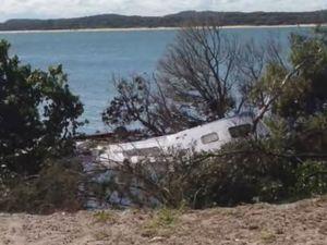 WATCH: Inskip sinkhole drags vehicles into ocean