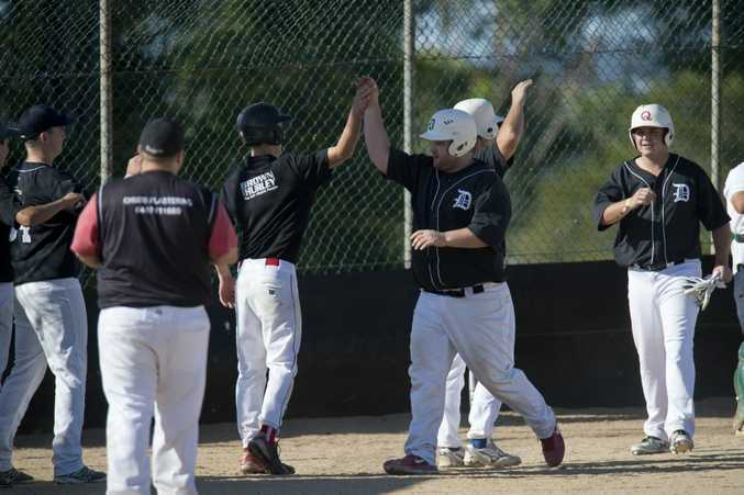 HIGH FIVE: Dodgers' Nic Rees will play at the Ipswich Moneyball tournament this weekend. Photo Kevin Farmer / The Chronicle
