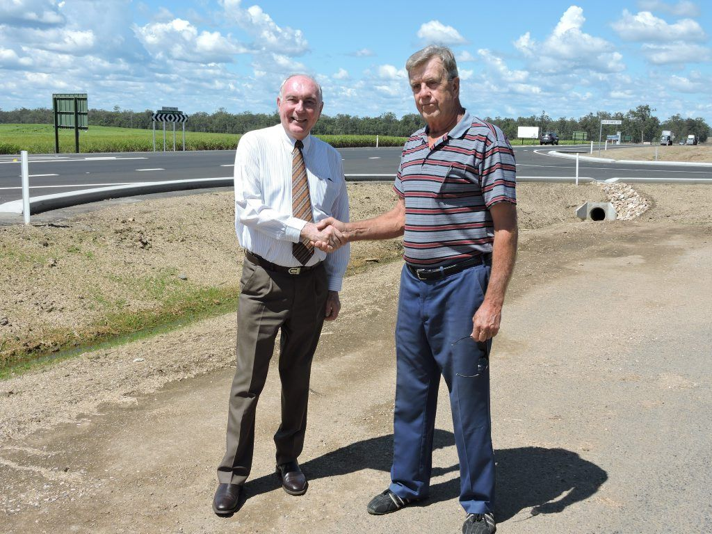 Standing beside the new turn-off from the Bruce Hwy in to Old Gympie Rd, John Penttila said words could not express how happy be was to see the road was finally made safer for drivers, after his father Esko and partner Aini Martikainen lost their lives when their car was hit from behind while they waited to turn off the deadly road.