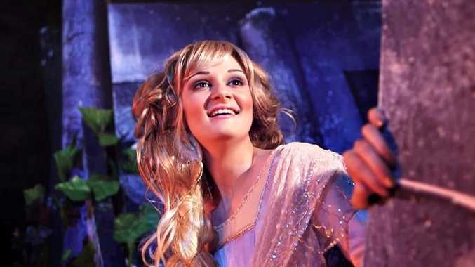 FAIRYTALE: Natalie Greer as Rapunzel in Into the Woods. Photo Contributed