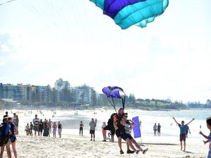 Mooloolaba Beach open for skydivers for next three months