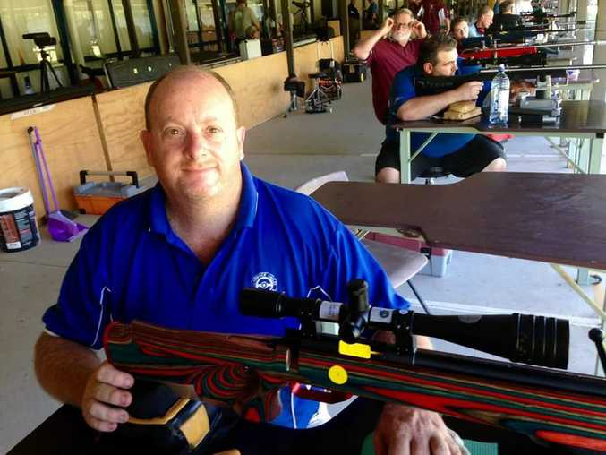 Sporting Shooters' Association of Australia target shooter John Matthews won the IRB Benchrest Rimfire shooting competition in Brisbane and is preparing for the world championship qualifier next February Photo Contributed