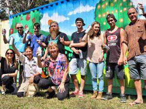 Mural brightens up garden