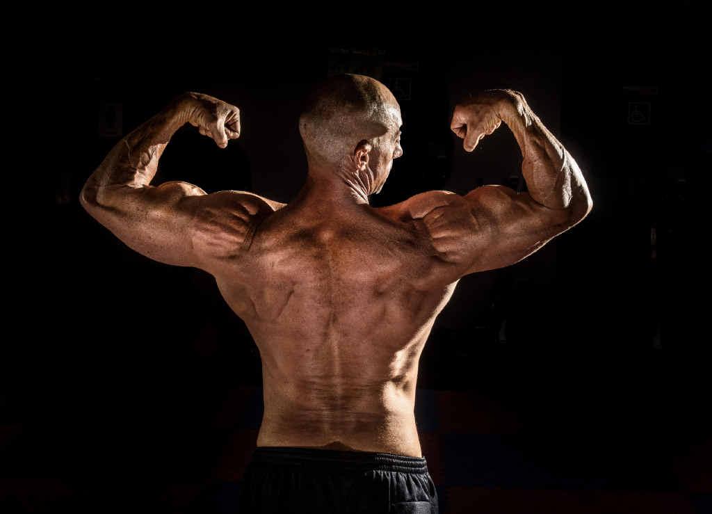 SOLID: Bodybuilder Brad Clarke.