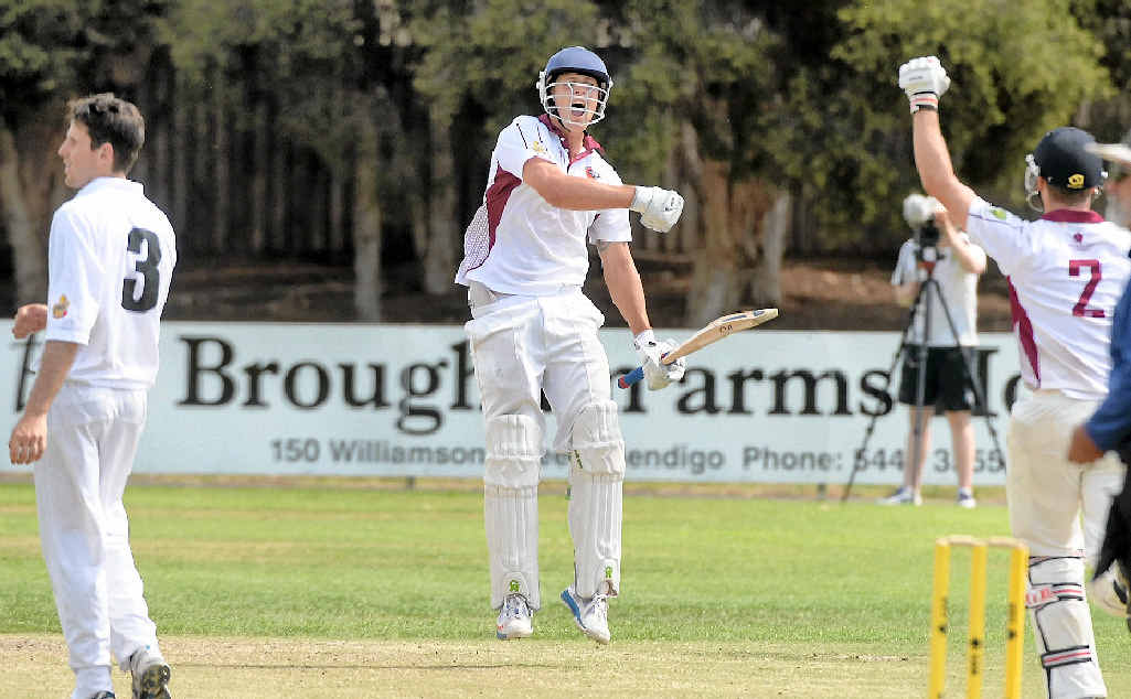WINNER: Gympie Gold captain Kaden Dickfos, pictured in a previous match for Queensland, made a healthy partnership with Lewis Waugh to secure 160 runs on Saturday.
