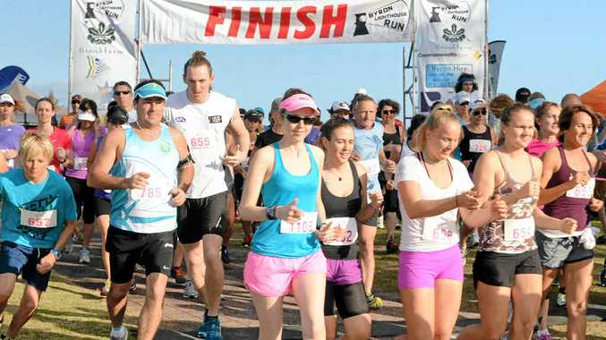 ON YOUR MARKS: Start of the Byron Bay Lighthouse Run, 2014.