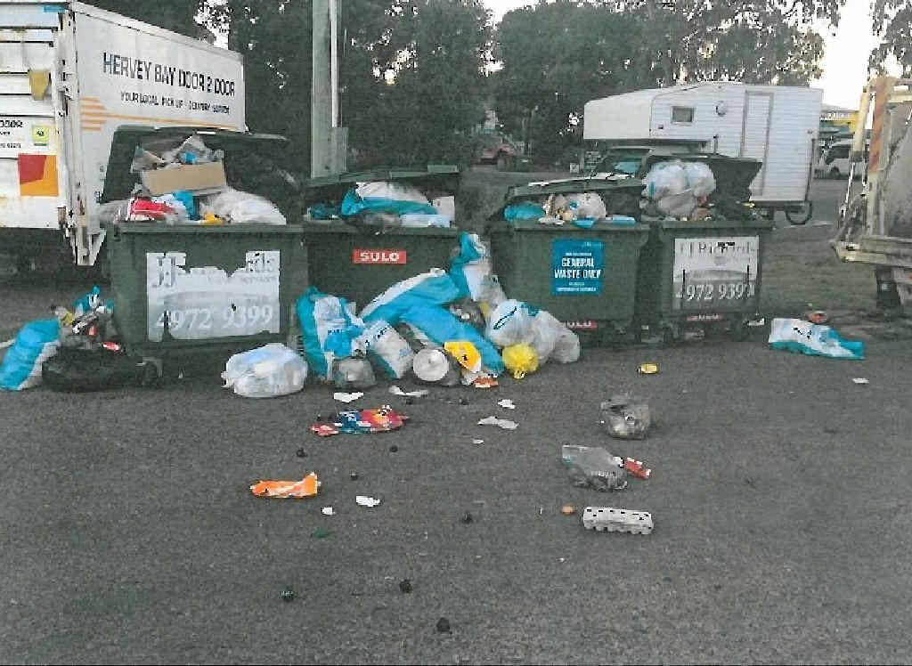 The fish waste bins were removed last week.