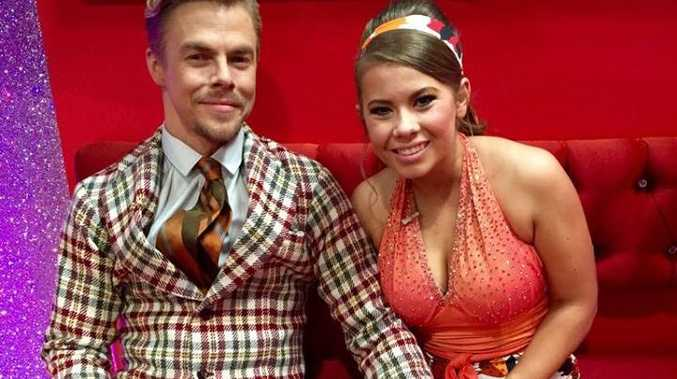 Bindi Irwin and her dance partner Derek Hough pay tribute to The Jeffersons on Dancing With The Stars.