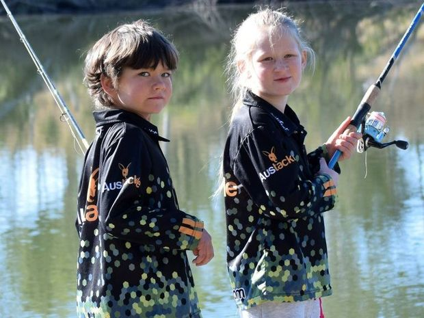 EARLY BITES: Trey and Hayley Crumblin are on a mission and that mission is to go fishin'. Photo Noel Thompson / Central & North Burnett Times