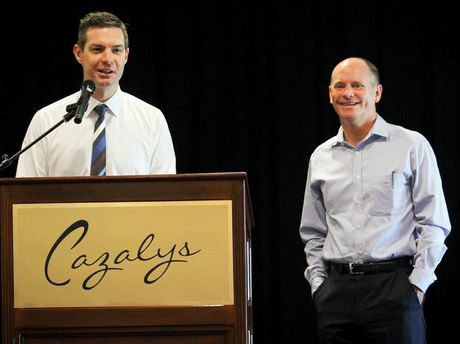 Biographer Gavin King and former Queensland Premier Campbell Newman Photo Contributed