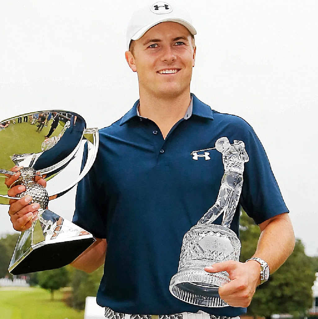 DOUBLING UP: Jordan Spieth after winning both the Tour Championship and the FedEx Cup.