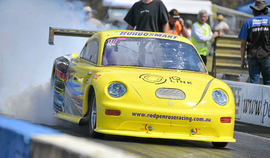 VOLKSWAGEN VARIETIES: Rod Penrose will be one of the top drivers to look out for at the VW Warwick meeting at Warwick Dragway this weekend.