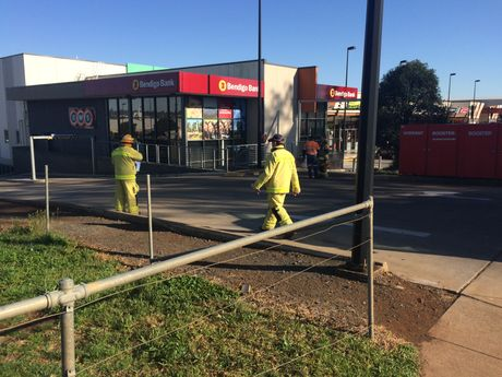 Fire-fighters respond to reports of a fire at The Ridge shopping centre.