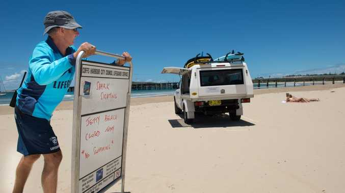 Lifeguards have closed Jetty Beach in Coffs Harbour after a shark sighting this afternoon.