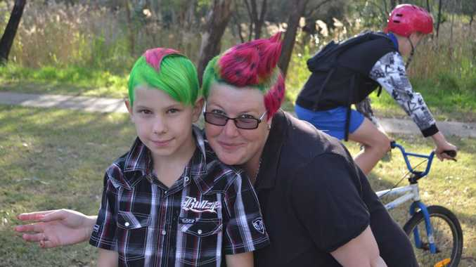 Tay Blower and mum, Amanda Maguire, loved their new watermelon hair.