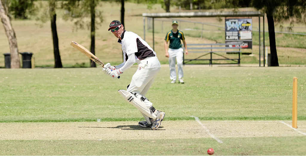ON THE RUN: Chris Hughes pictured last year made a half-century at the weekend.