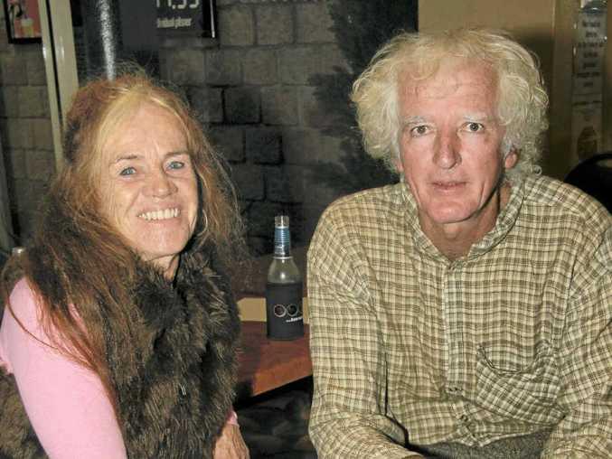 Nimbin poet Jane Treasure and Banana Bob Lee of Pretty Gully.