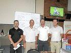 PRO AM WINNERS: It was a three-way tie at the Casino Pro Am. Pictured is Chris Wood, sponsor Ashley Fox, Tim Hart and Brett Rankin.