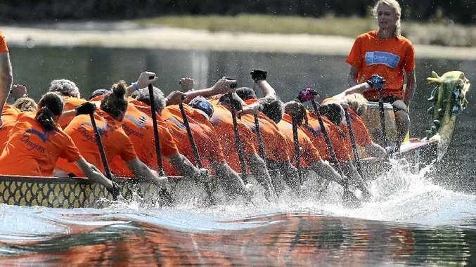 TEAM WORK: Ballina Dragons Boat Racing Club.