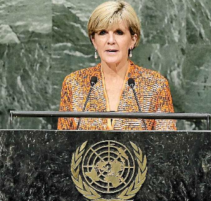 BID: Julie Bishop addresses the UN General Assembly.