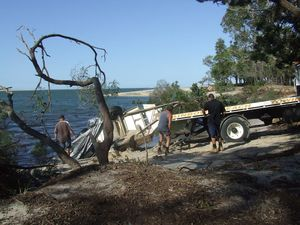 Inskip Point sinkhole recovery operations finish up