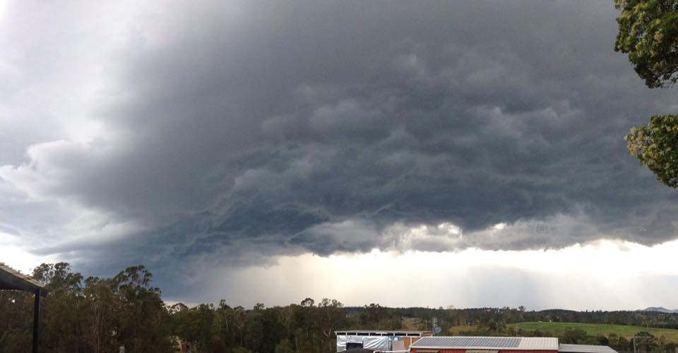 A SEVERE thunderstorm warning has been issued for the Wide Bay and Burnett and Southeast Coast Forecast Districts.