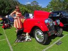 CLASSIC DAY: Retro setup with a 1947 Morgan 4/4 at the Noosa Beach Classic Car Club's annual show at Noosa Heads last year