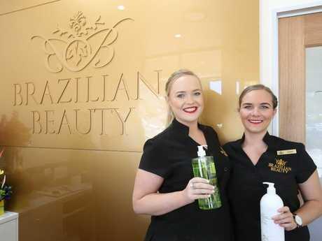 Brazilian Beauty has just opened its first salon on the Sunshine Coast. (L-R) Josie Paton with Genna Baker. Photo: Nicola Brander / Sunshine Coast Daily