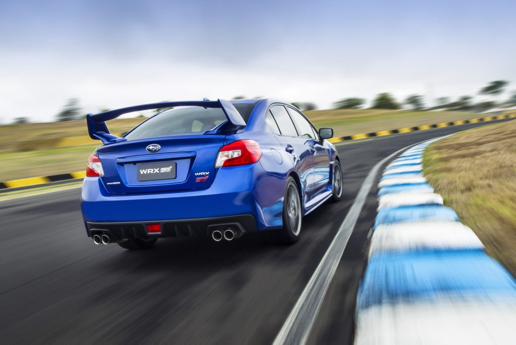 ATHLETIC: Subaru WRX STi is Courtney's current steer and says it matches his personality well.
