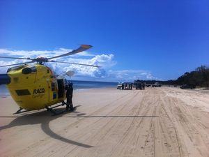 Schoolies teen airlifted from Fraser Is with shoulder injury