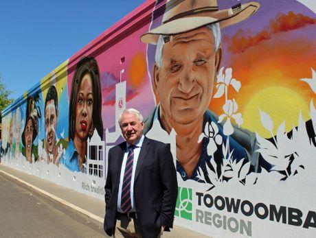 Toowoomba region Mayor Paul Antonio launches the rebrand.